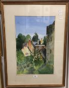 HOWARD DAVIS (20th/21st century) British, Amberley Castle and Village, watercolour, signed,