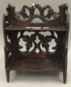 A Black Forest carved shelf