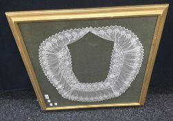 An 18th/19th century lace collar, possibly Point D'Angleterre, Brussels,