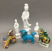 A 19th century Chinese blanc de chine model of Guanyin,
