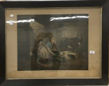 After GEORGE MORLAND, The Cottager's Wealth, mezzotint,