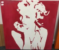 MAFF (20th/21st century) Marilyn, acrylic on canvas, signed and dated '07 to verso,