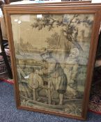 A set of four Continental tapestry pictures,