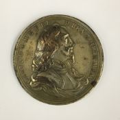 A Charles I 1649 memorial medallion by J ROETTIERS (1631-1703) English