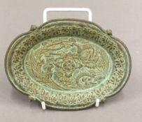 A Chinese bronze dish