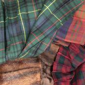 A quantity of vintage furs, kilts, overcoats, etc.