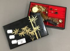 A box of various jewellery