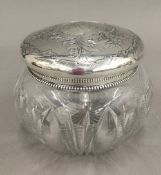 A vintage sterling silver Gorham & Co powder bowl and cover