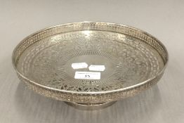 A sterling silver tazza