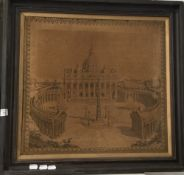 Needlework picture of St Peter's Square, Rome,