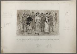 GEORGE DU MAURIER (1834-1896) French The Late Fogs Pen and ink, signed, titled,