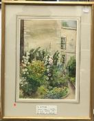 """MAUD WADDELL (20th century) British """"The Buttress, Menabilly"""" Watercolour,"""