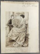 GEORGE DU MAURIER (1834-1896) French Inanities of the Drawing Room Pen and ink, signed,