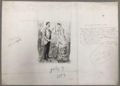 GEORGE DU MAURIER (1834-1896) French SIC VOS VOBIS DRAMATISATIS, WRITERS! Pen and ink, signed,