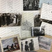 A small quantity of black and white photographic prints and other ephemera mainly relating to the