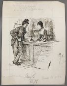 GEORGE DU MAURIER (1834-1896) French Expensive Habits Pen and ink, signed,