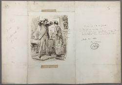 GEORGE DU MAURIER (1834-1896) French The Young Wife and The Old Friend Pen and ink, signed, titled,