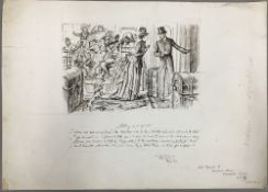 GEORGE DU MAURIER (1834-1896) French Getting Out Of It! Pen and ink, signed, titled,