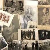 A quantity of black and white military photographic prints and other ephemera relating to