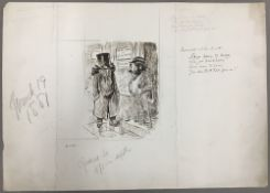GEORGE DU MAURIER (1834-1896) French Seasonable Advice to All Pen and ink, signed, titled,