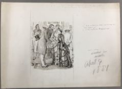 GEORGE DU MAURIER (1834-1896) French Back At Last From Ireland Pen and ink, signed,
