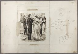 GEORGE DU MAURIER (1834-1896) French Cruel Pen and ink, signed, titled,