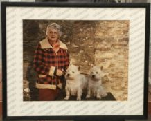 Selection of photographs of Daphne du Maurier with her West Highland Terriers.