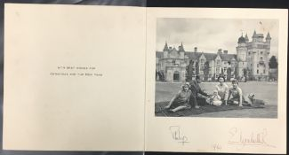 Queen Elizabeth II (1926- ) & Prince Philip (1926- ) The Duke of Edinburgh: Christmas card from