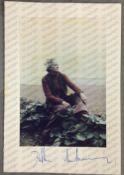 Daphne du Maurier: (1907-1989) British Author, signed colour photograph of Daphne on the beach,