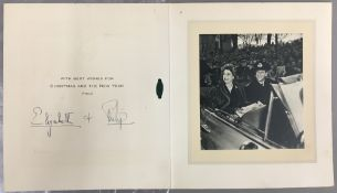 Princess Elizabeth (1926- ) & Prince Philip (1926-) The Duke of Edinburgh: Christmas card from 1951