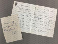 Queen Elizabeth II: (1926- ) A.N. 'E', note, Memorandum from H.R.H.