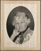 Daphne du Maurier: (1907-1989) British Author, signed black and white portrait photograph of Daphne,