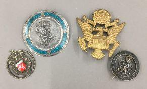 A Mexican silver brooch,