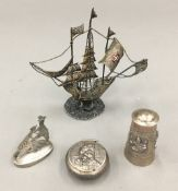 A quantity of small silver items, etc.