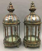 A pair of hanging lanterns