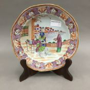A 19th century Chinese famille rose dish