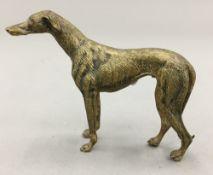 A 19th century bronze model of a greyhound