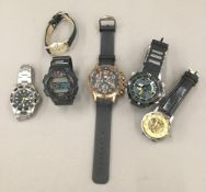 A quantity of gentleman's wristwatches