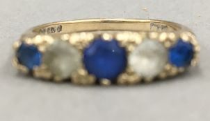 A 9 ct gold ring (2.