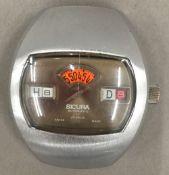 A vintage Sicura jump hour gentleman's wristwatch,