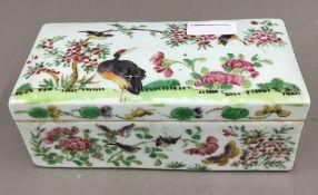 A 19th century Canton porcelain lidded box