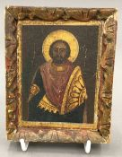 A painted icon of St Demetrius