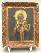 A painted icon of St Alexander