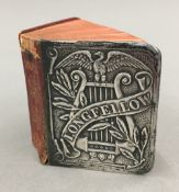 A Victorian miniature silver fronted volume of The Poetical Works of Longfellow