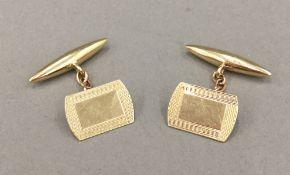 A pair of 9 ct gold cufflinks (4.