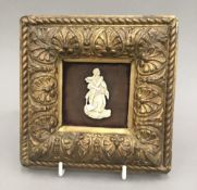 A small 19th century framed ivory of The Mariners Saint
