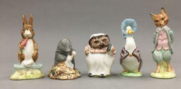 Five various Beswick Beatrix Potter models