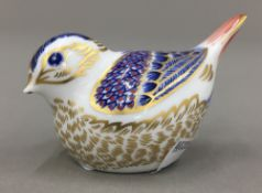 A Crown Derby bird form paperweight
