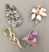 A Cerrito costume brooch,