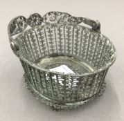 A filigree silver basket